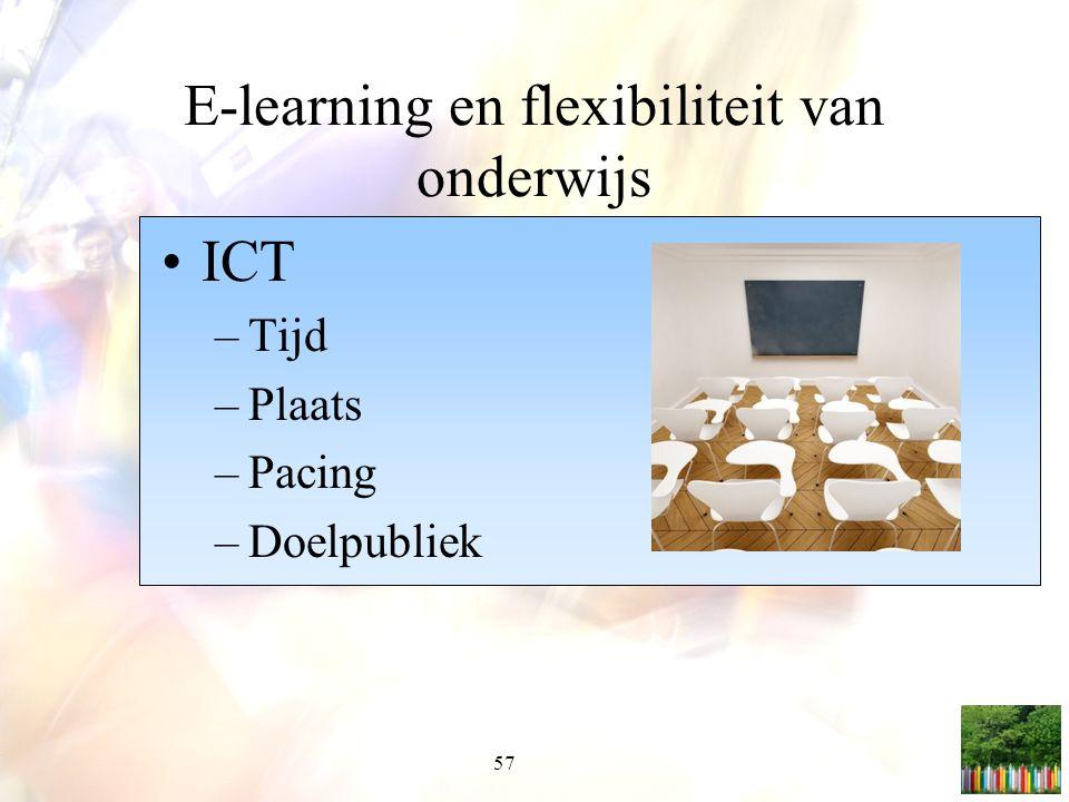 E-learning en flexibiliteit van onderwijs