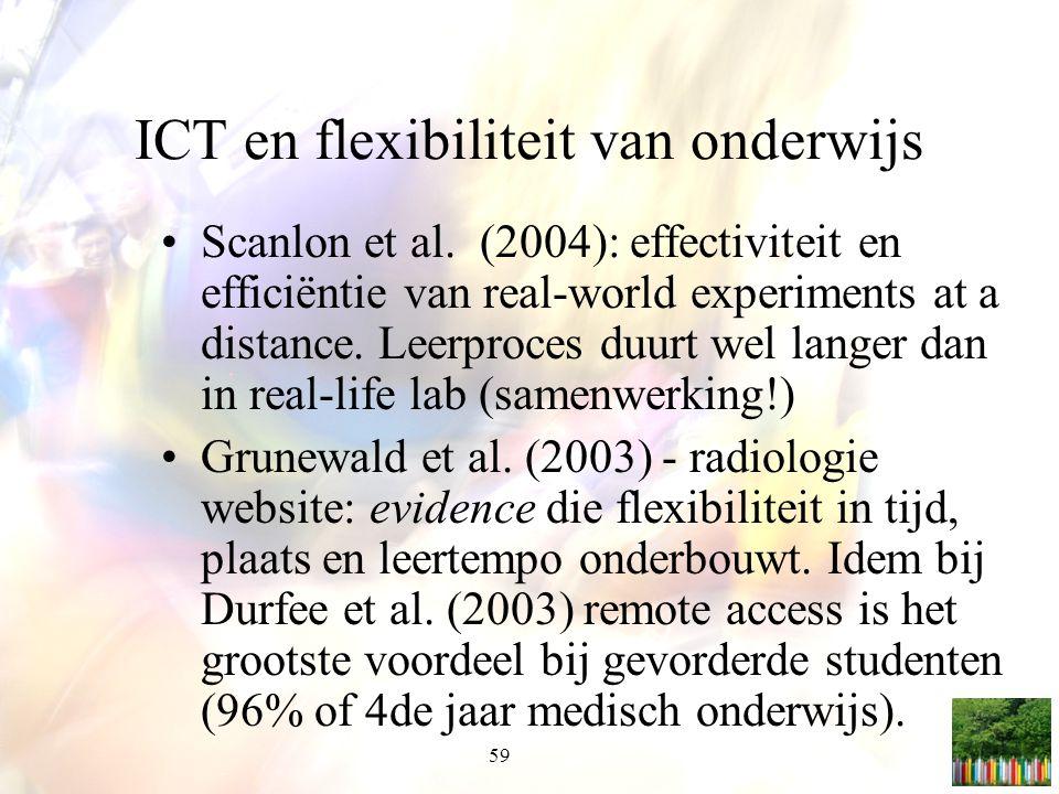 ICT en flexibiliteit van onderwijs