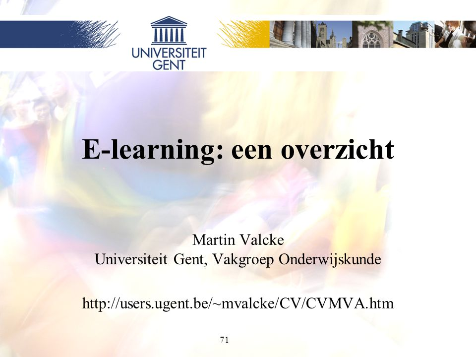 E-learning: een overzicht