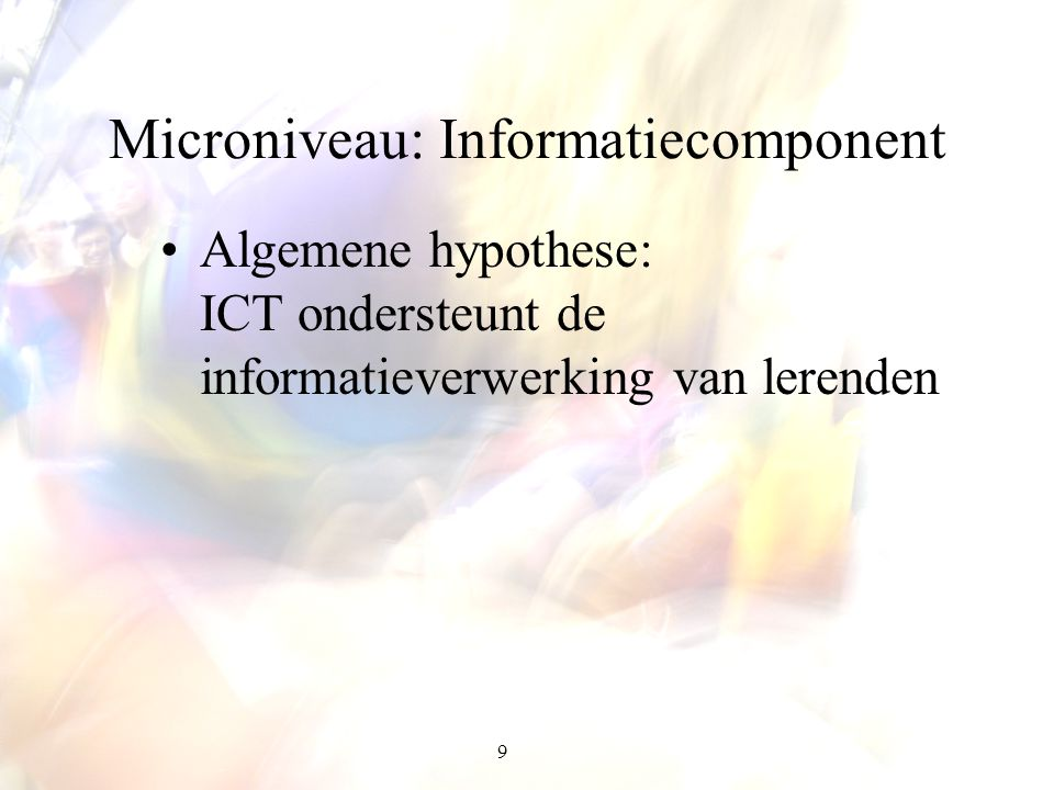 Microniveau: Informatiecomponent