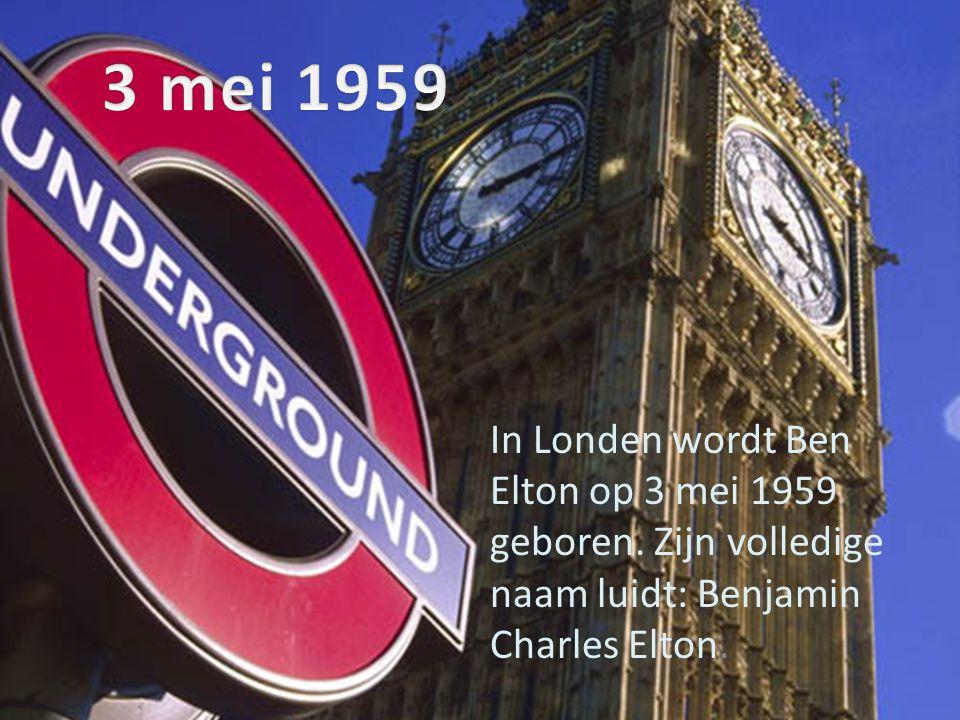 3 mei 1959 In Londen wordt Ben Elton op 3 mei 1959 geboren.
