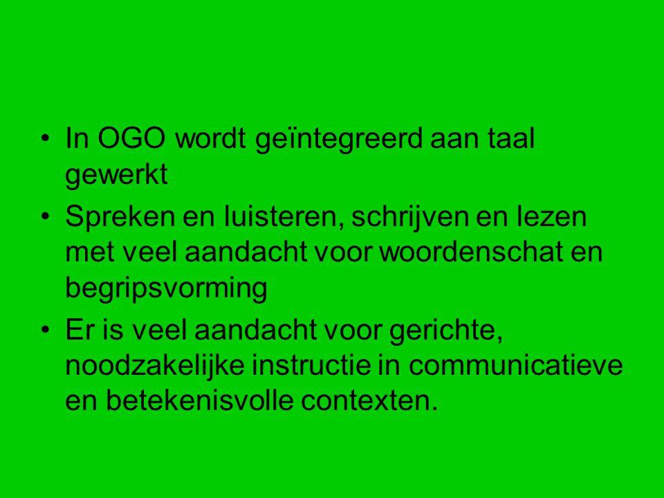 In OGO wordt geïntegreerd aan taal gewerkt