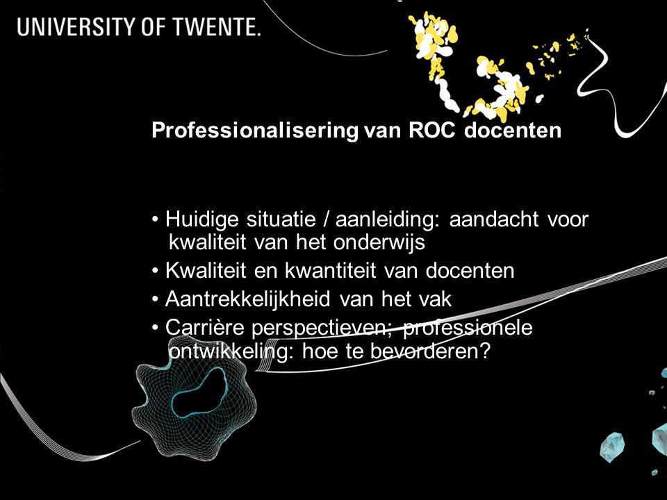Professionalisering van ROC docenten