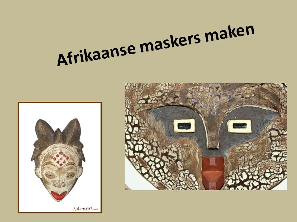 Afrikaanse maskers maken