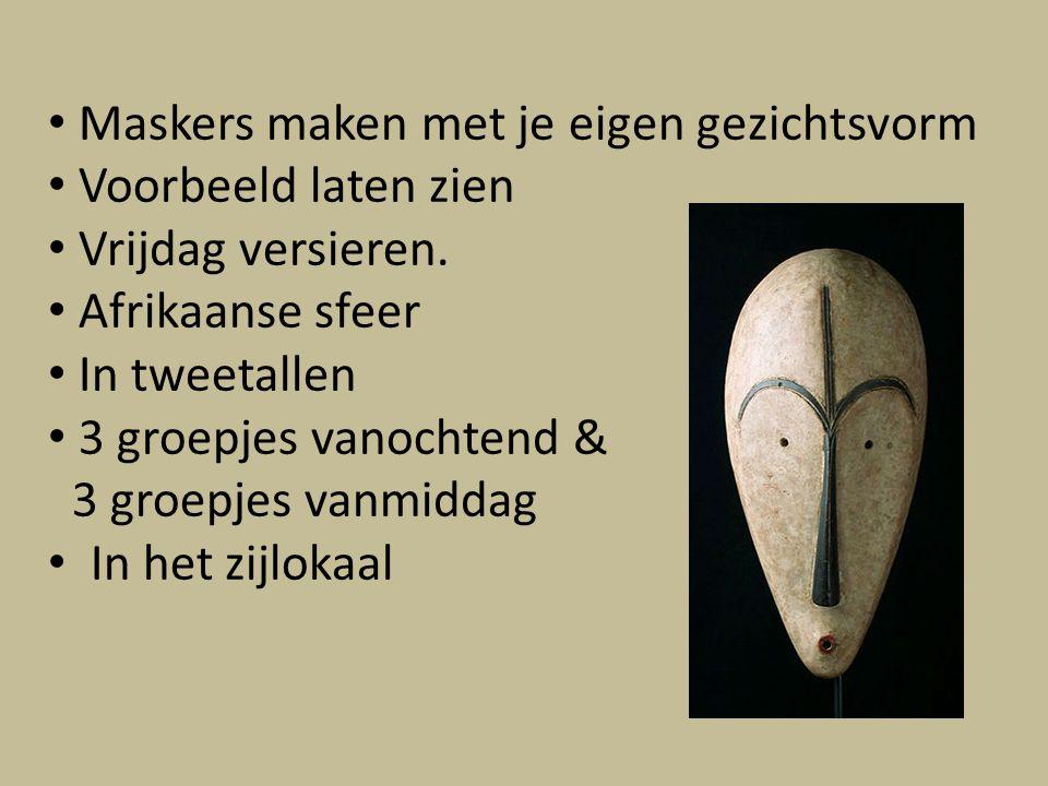 Maskers maken met je eigen gezichtsvorm