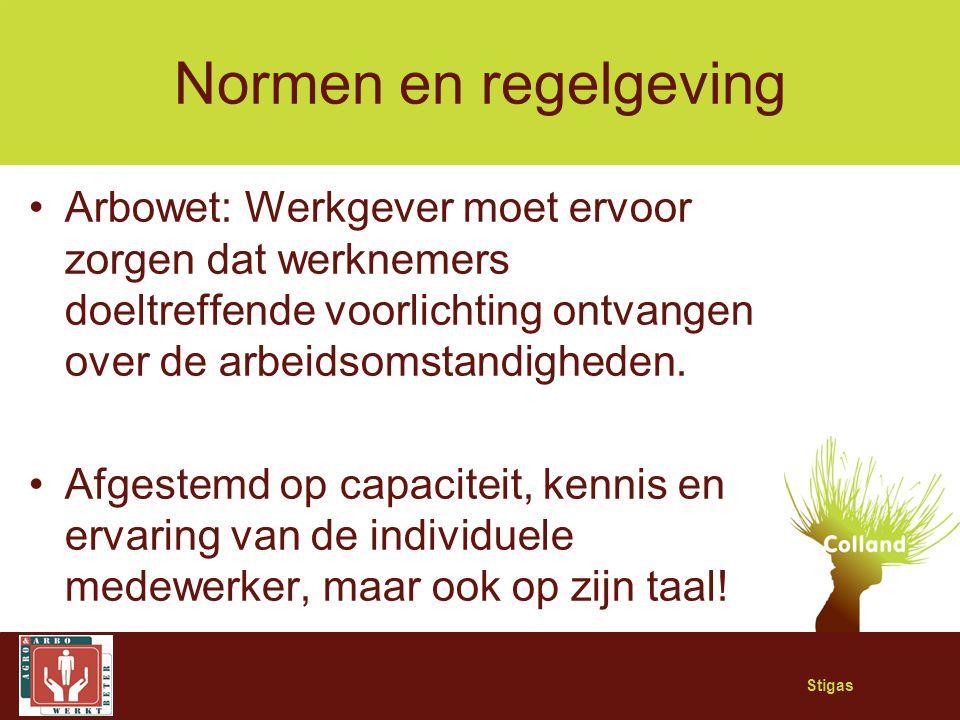 Normen en regelgeving Arbowet: Werkgever moet ervoor zorgen dat werknemers doeltreffende voorlichting ontvangen over de arbeidsomstandigheden.