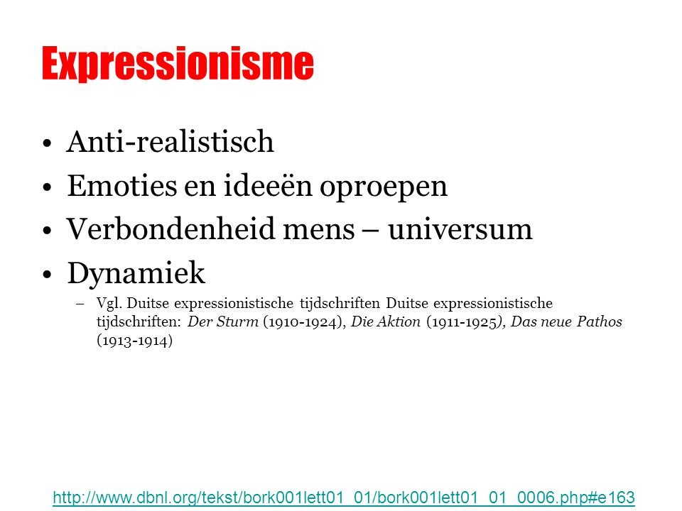 Expressionisme Anti-realistisch Emoties en ideeën oproepen