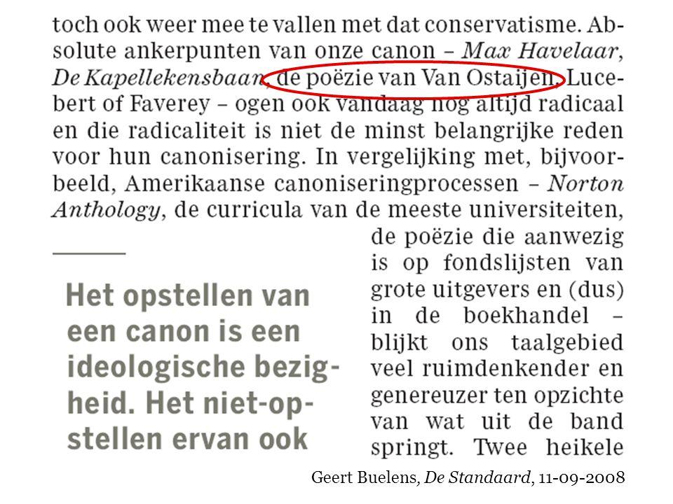 Geert Buelens, De Standaard, 11-09-2008