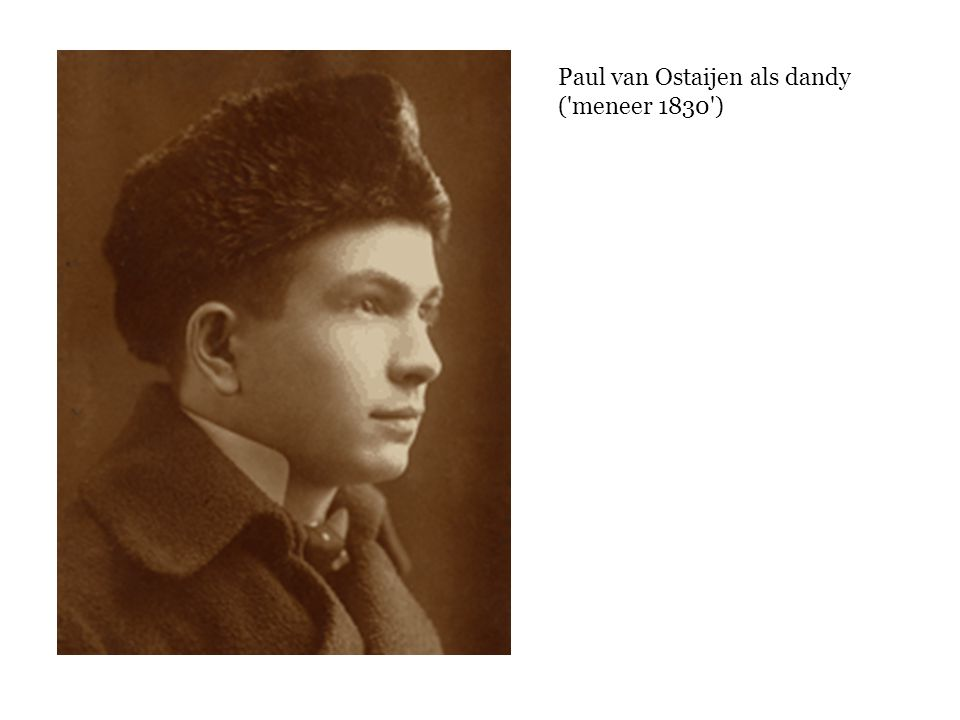 Paul van Ostaijen als dandy