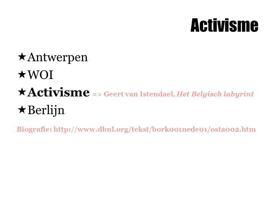 Activisme Antwerpen WOI