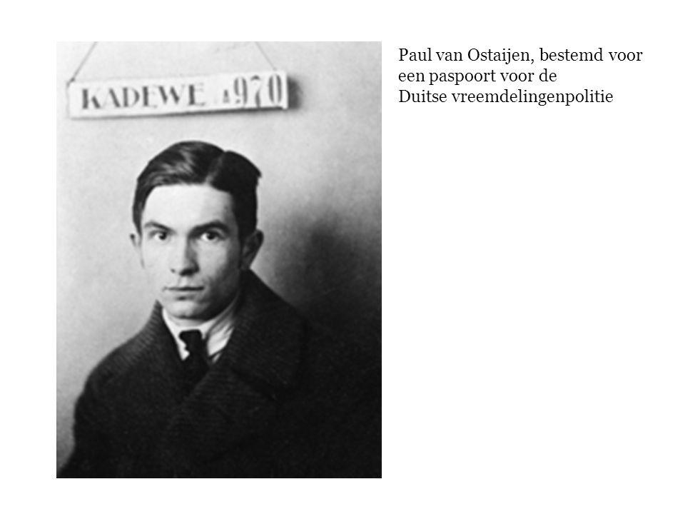 Paul van Ostaijen, bestemd voor