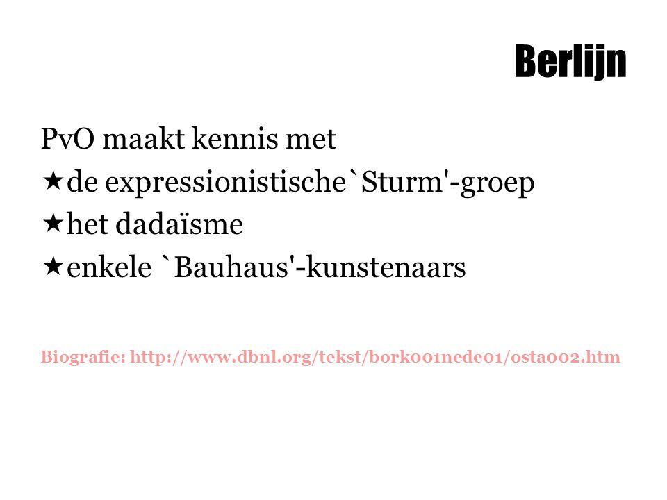 Berlijn PvO maakt kennis met de expressionistische`Sturm -groep