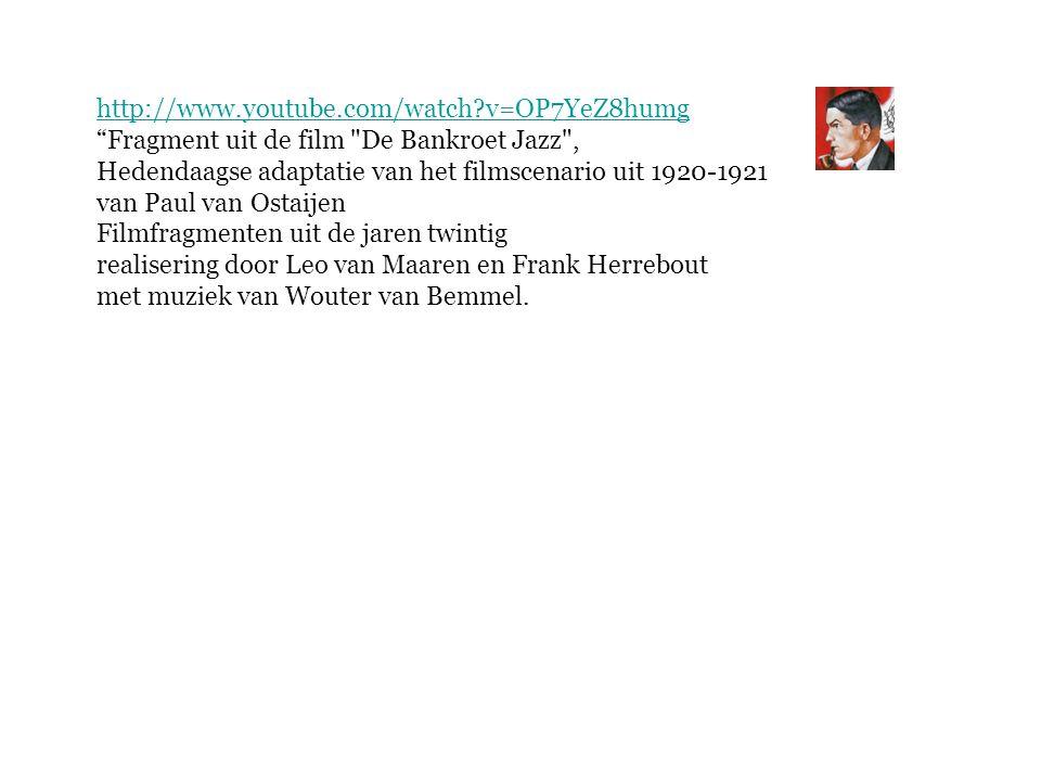 http://www.youtube.com/watch v=OP7YeZ8humg Fragment uit de film De Bankroet Jazz , Hedendaagse adaptatie van het filmscenario uit 1920-1921.