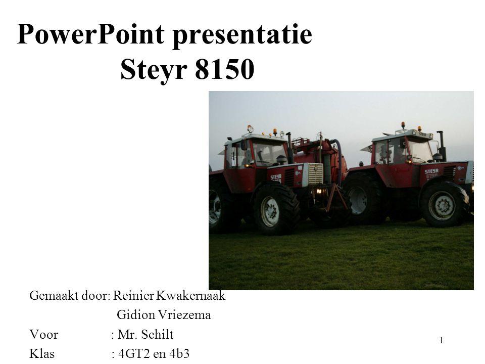 PowerPoint presentatie Steyr 8150