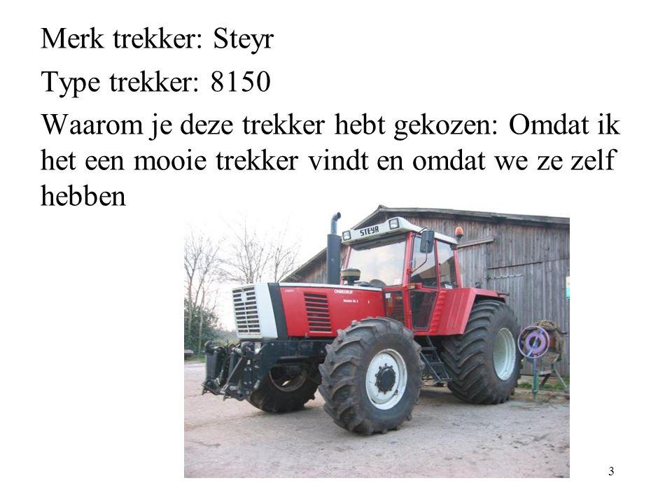 Merk trekker: Steyr Type trekker: 8150.