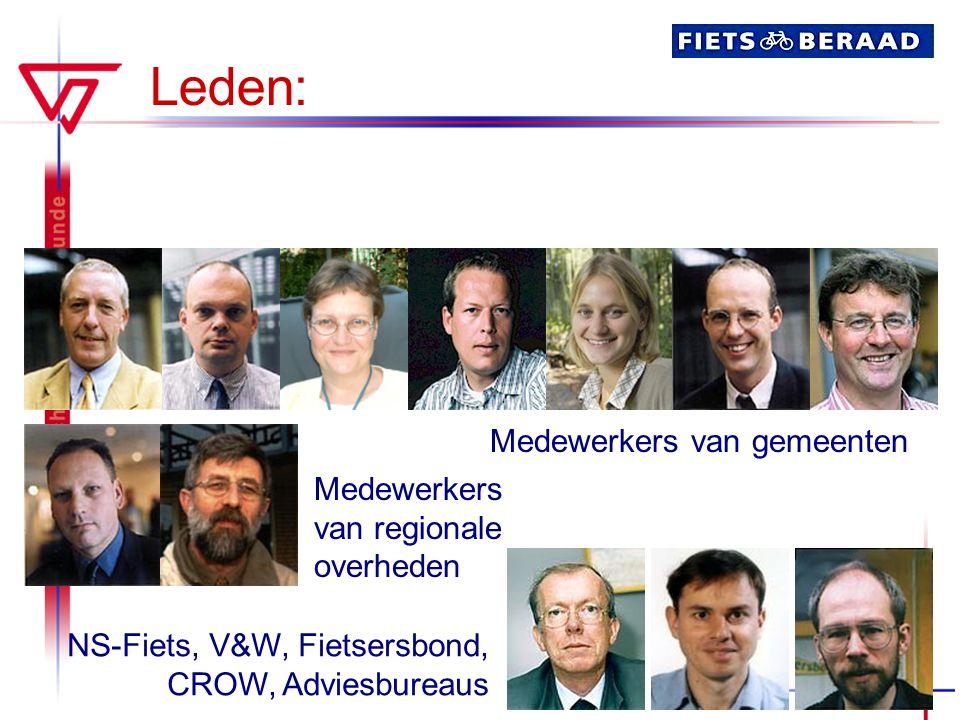 Leden: Medewerkers van gemeenten Medewerkers van regionale overheden