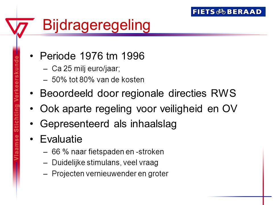 Bijdrageregeling Periode 1976 tm 1996