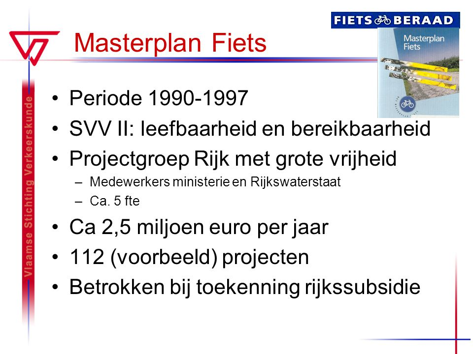 Masterplan Fiets Periode 1990-1997