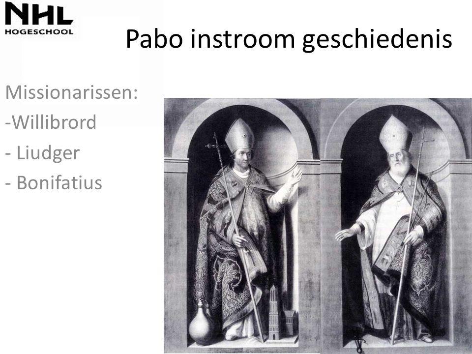 Pabo instroom geschiedenis