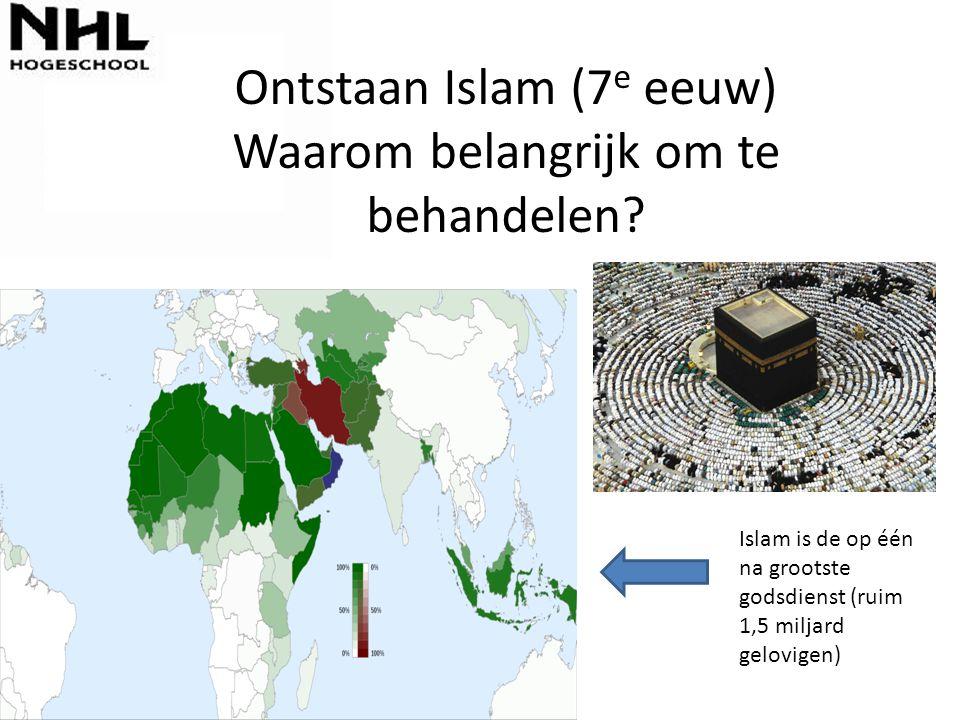 Ontstaan Islam (7e eeuw) Waarom belangrijk om te behandelen