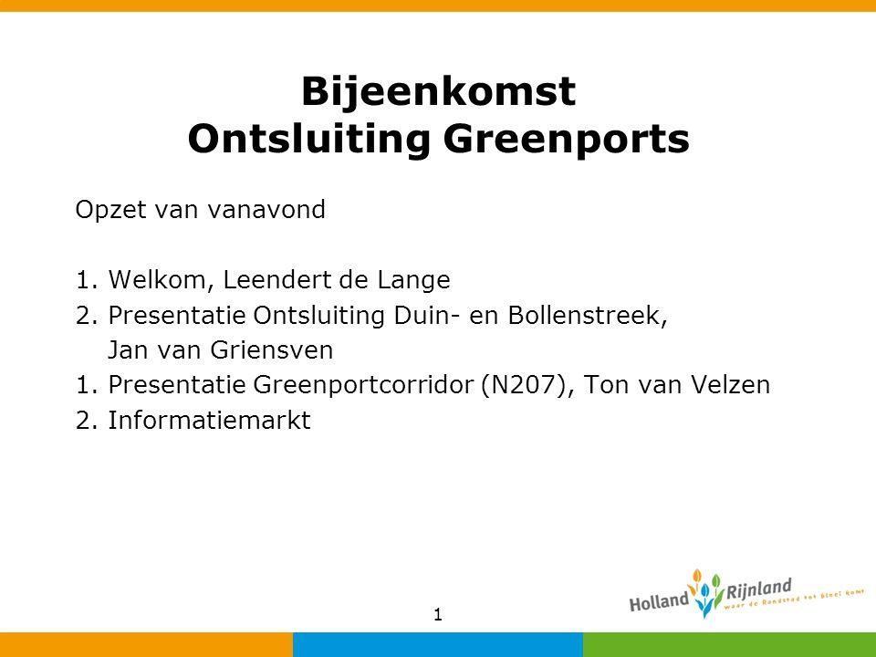 Bijeenkomst Ontsluiting Greenports