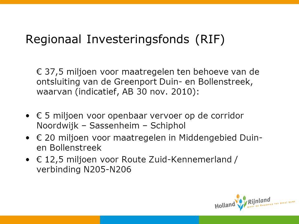 Regionaal Investeringsfonds (RIF)