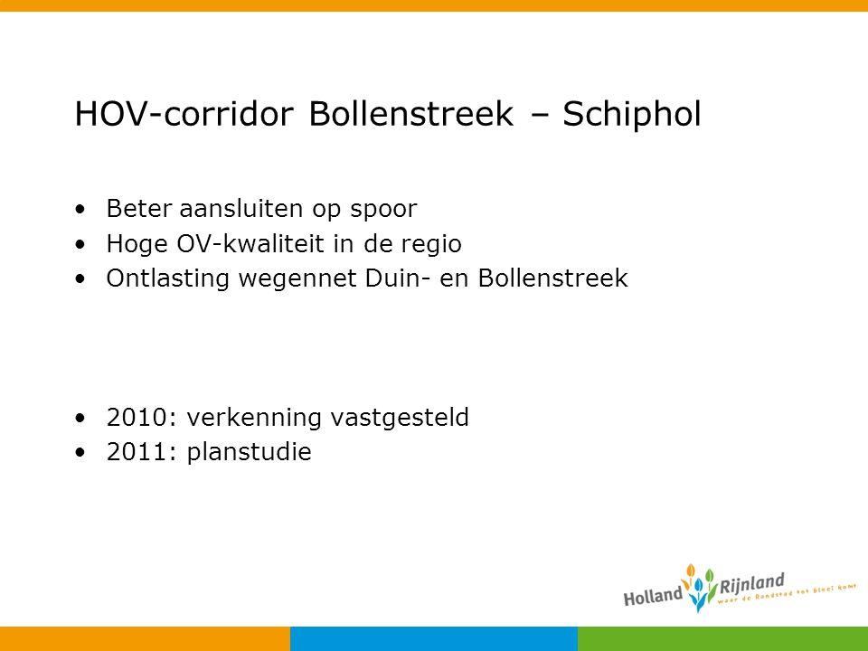 HOV-corridor Bollenstreek – Schiphol