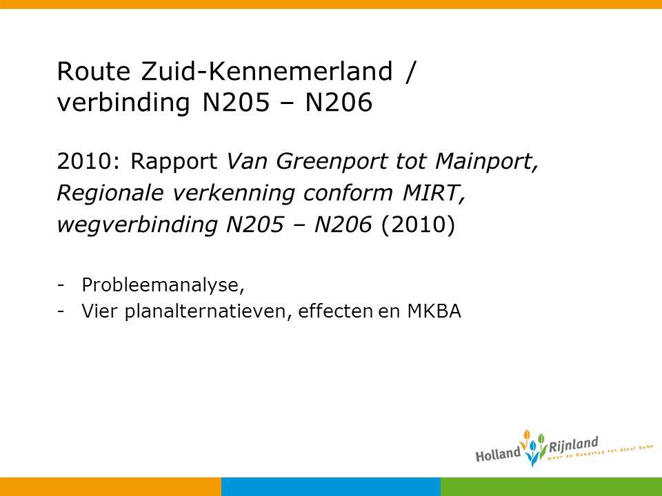Route Zuid-Kennemerland / verbinding N205 – N206