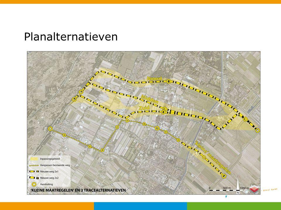 Planalternatieven In verkenning N205-N206 zijn vier planalternatieven bekeken: