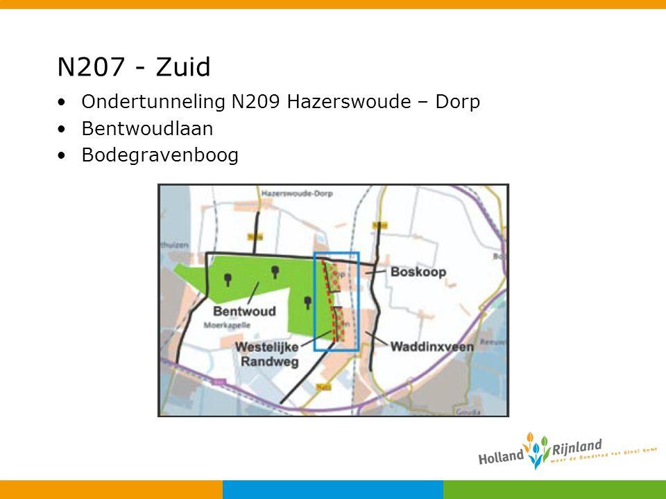N207 - Zuid Ondertunneling N209 Hazerswoude – Dorp Bentwoudlaan