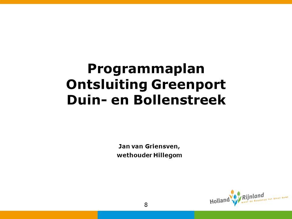 Programmaplan Ontsluiting Greenport Duin- en Bollenstreek