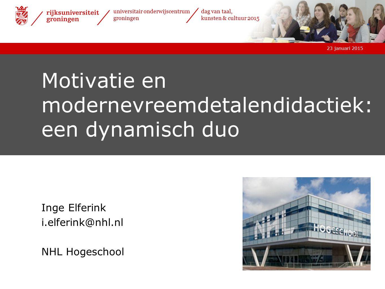 Motivatie en modernevreemdetalendidactiek: een dynamisch duo