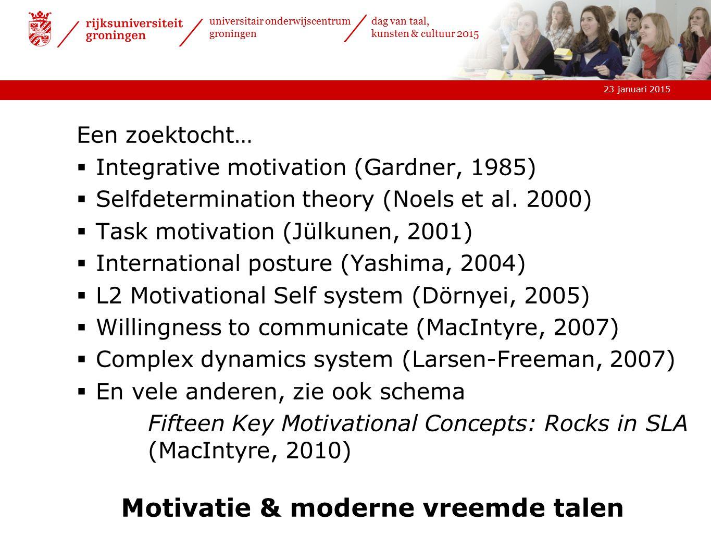 Motivatie & moderne vreemde talen