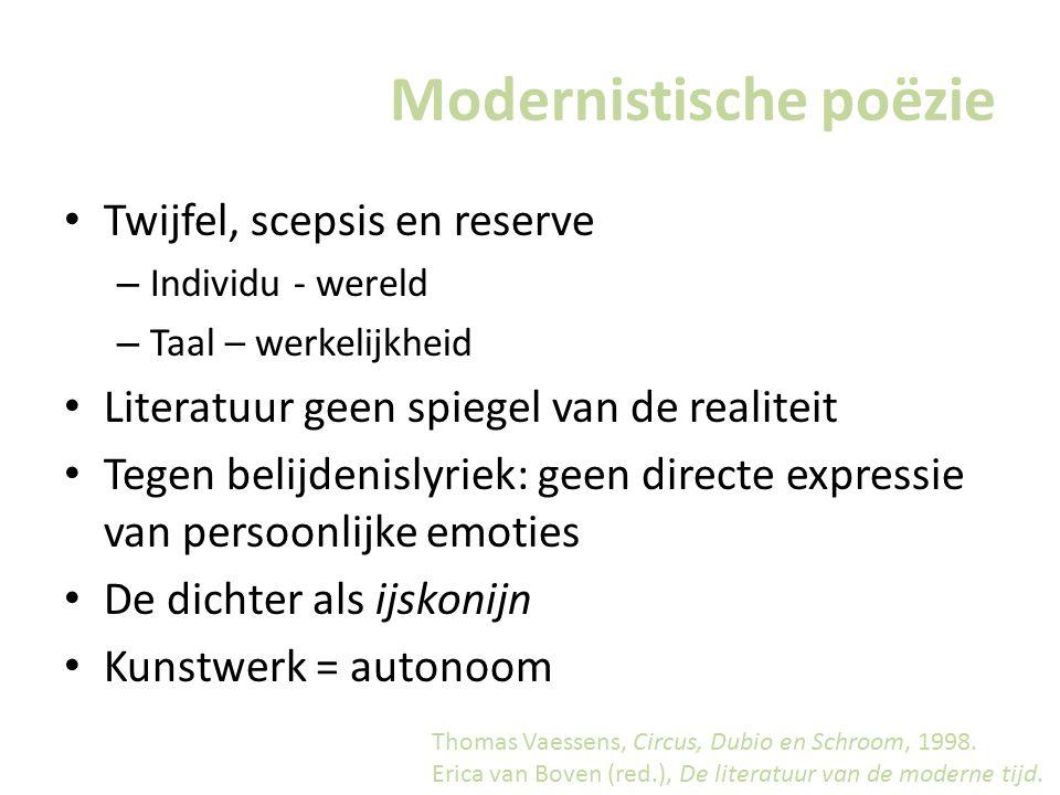 Modernistische poëzie