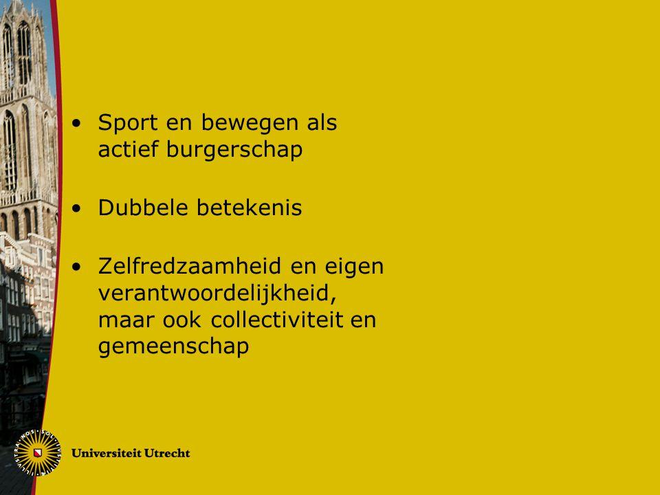 Sport en bewegen als actief burgerschap