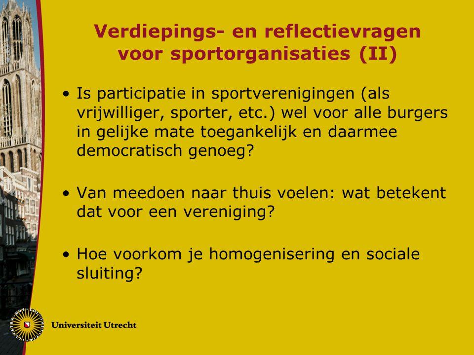 Verdiepings- en reflectievragen voor sportorganisaties (II)