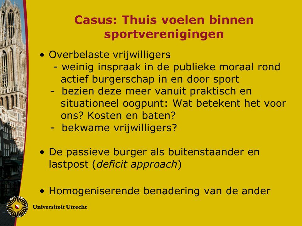 Casus: Thuis voelen binnen sportverenigingen