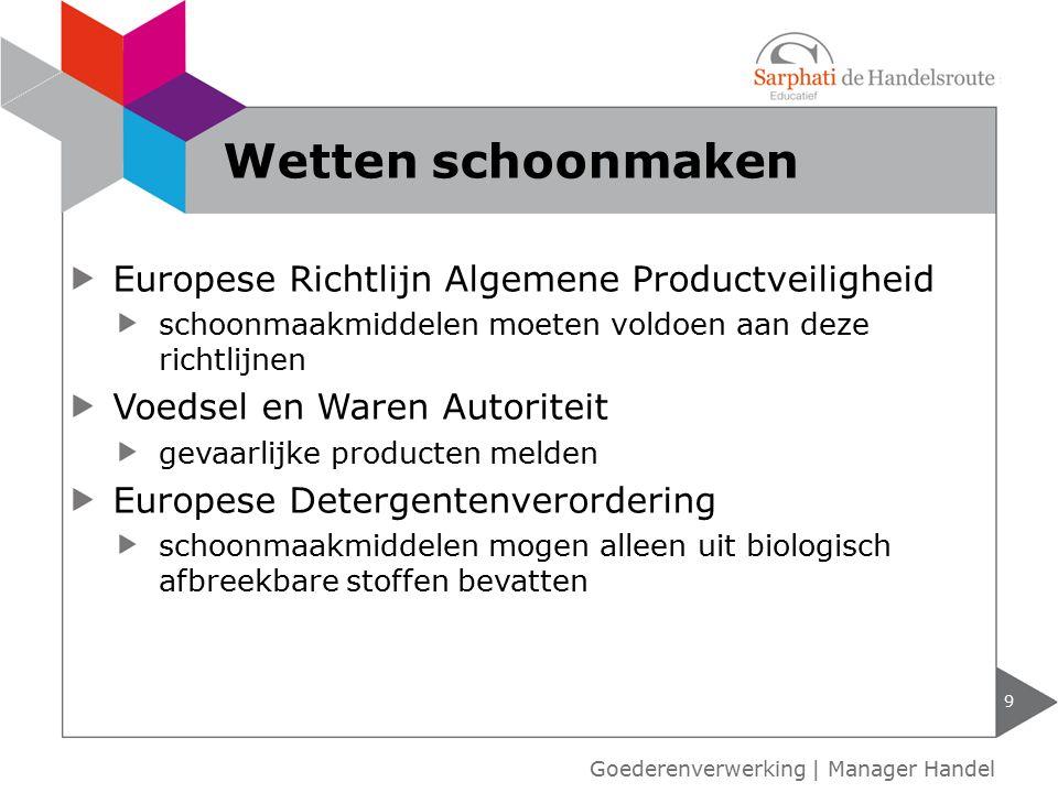 Wetten schoonmaken Europese Richtlijn Algemene Productveiligheid