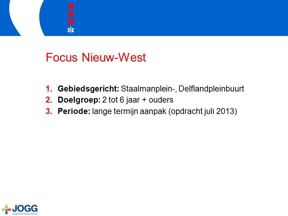 Focus Nieuw-West Gebiedsgericht: Staalmanplein-, Delflandpleinbuurt