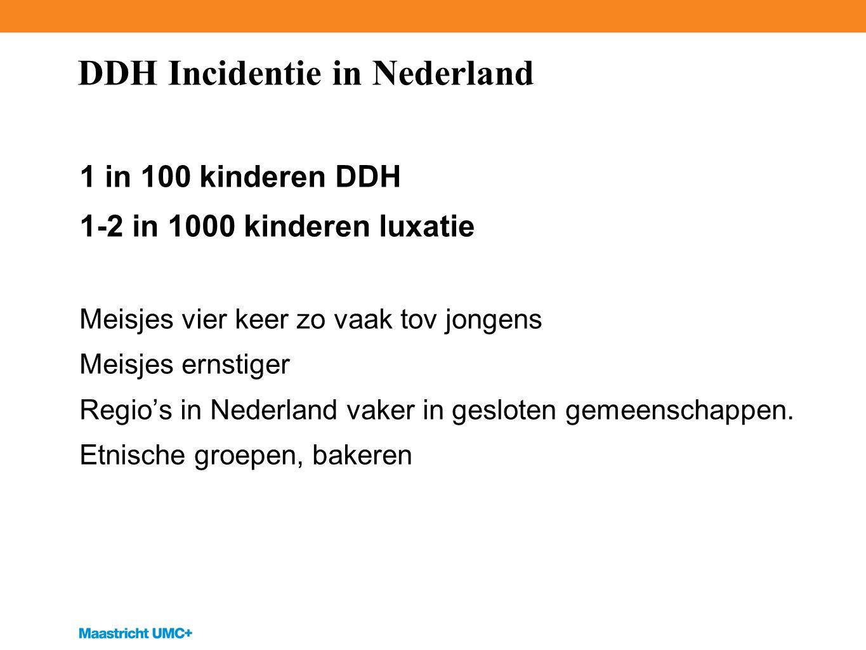 DDH Incidentie in Nederland