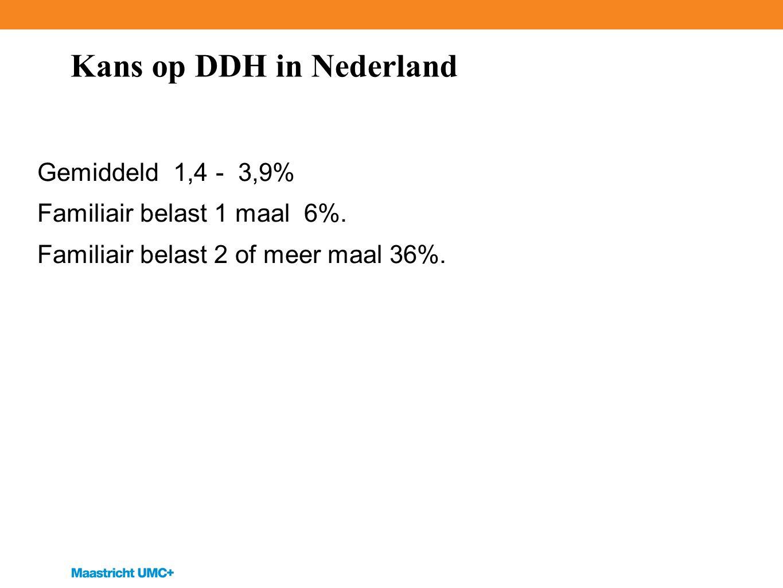 Kans op DDH in Nederland