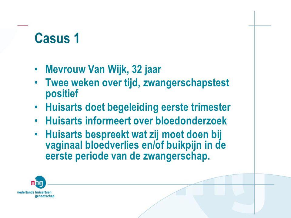 Casus 1 Mevrouw Van Wijk, 32 jaar