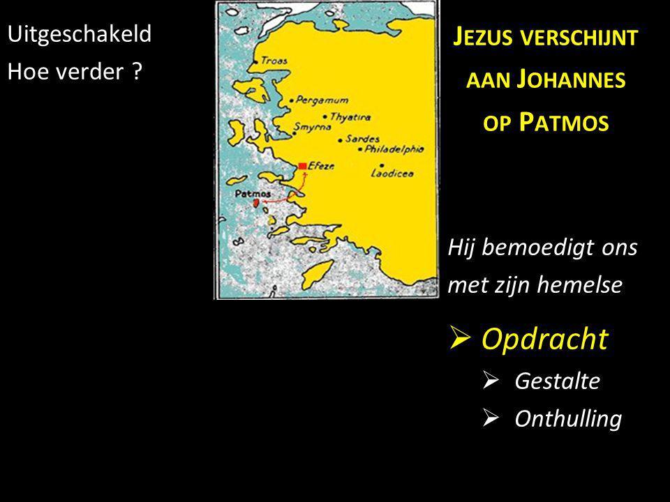 Opdracht Jezus verschijnt aan Johannes op Patmos