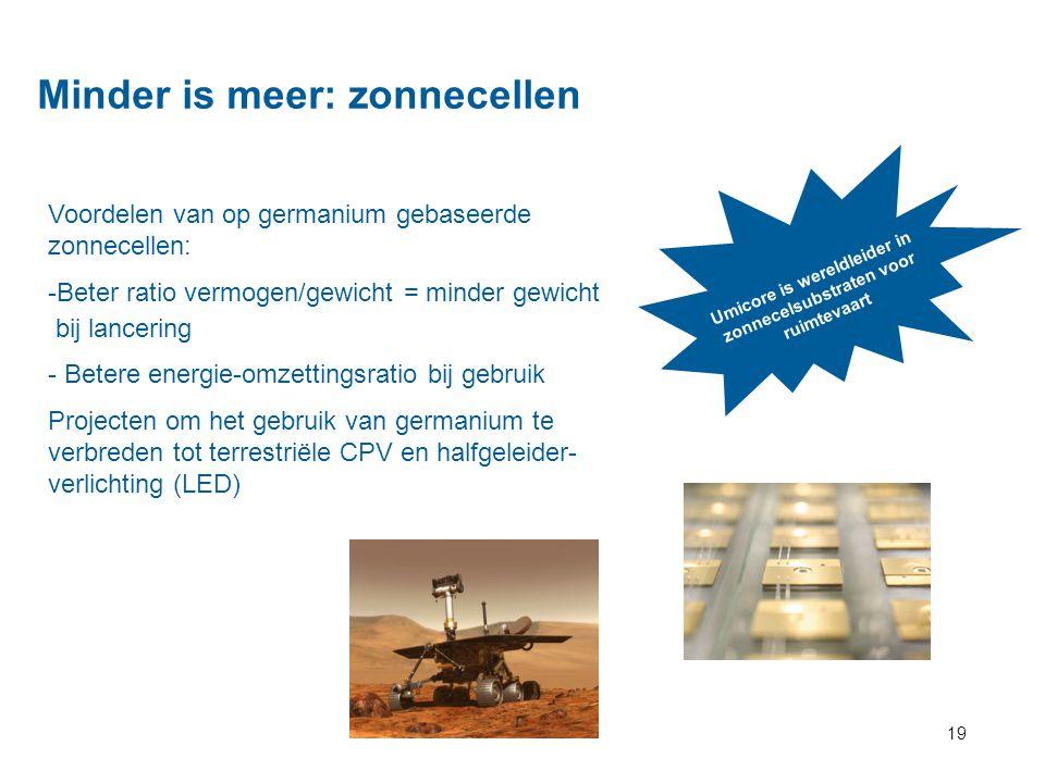 Minder is meer: zonnecellen