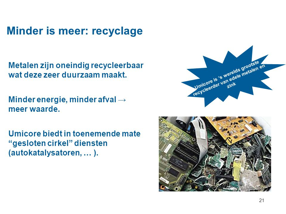Minder is meer: recyclage
