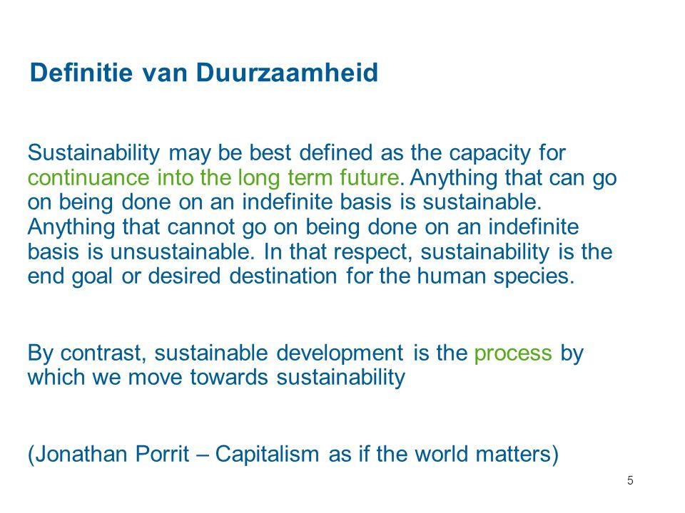 Definitie van Duurzaamheid