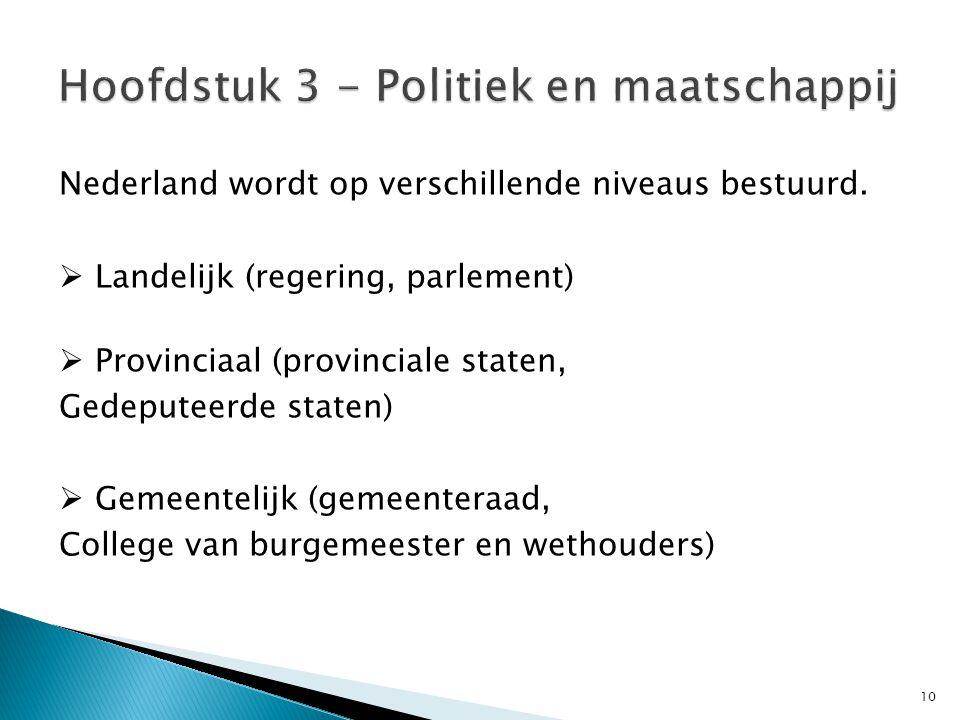 Hoofdstuk 3 - Politiek en maatschappij