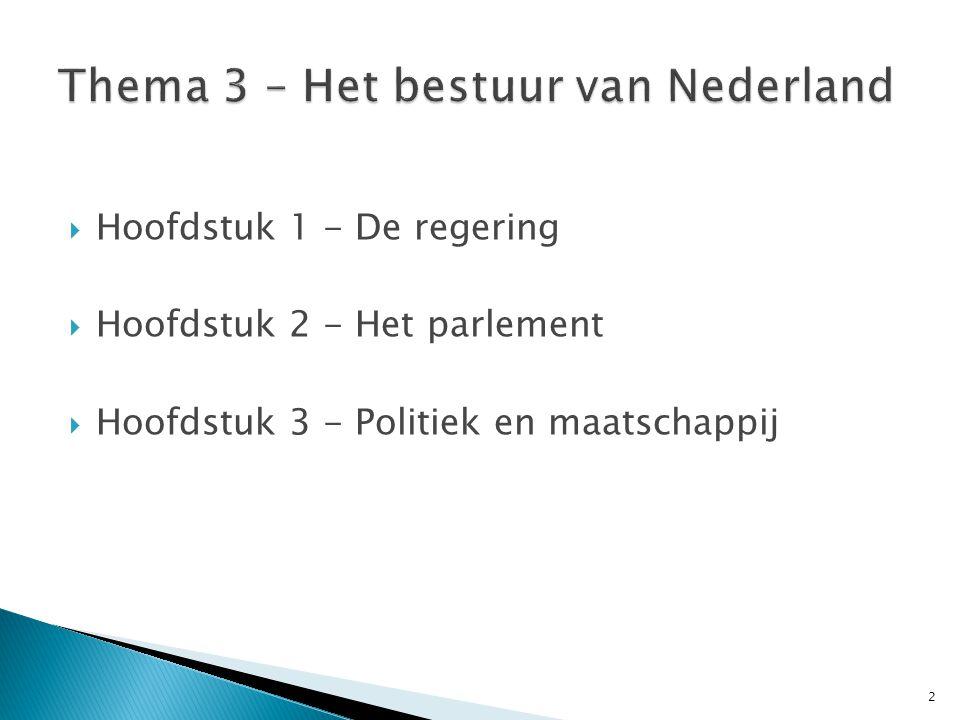 Thema 3 – Het bestuur van Nederland