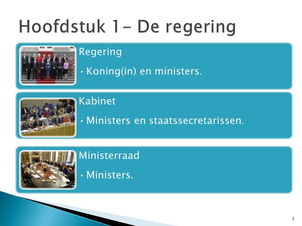 Hoofdstuk 1- De regering