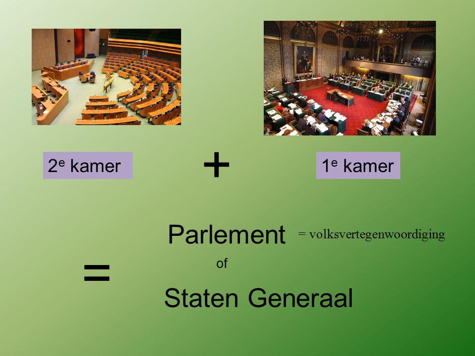 + = Parlement Staten Generaal 2e kamer 1e kamer